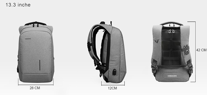 Габариты рюкзака Kingsons ks3149w для ноутбука 13,3 дюймов