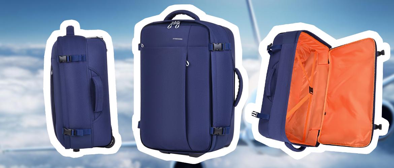 Tucano Tugo Trolley S — самый легкий чемодан для ручной клади